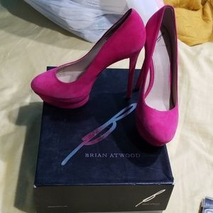 B by Brian Atwood Hot Pink barbie heel 7.5